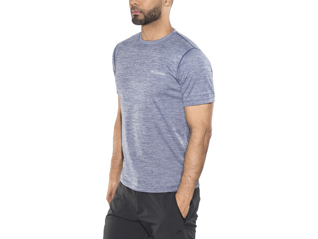 Columbia Zero Rules Shortsleeve Shirt Herren carbon heather